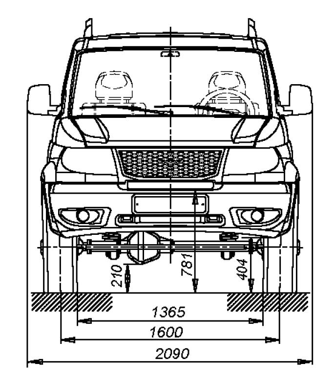 УАЗ Патриот - размеры