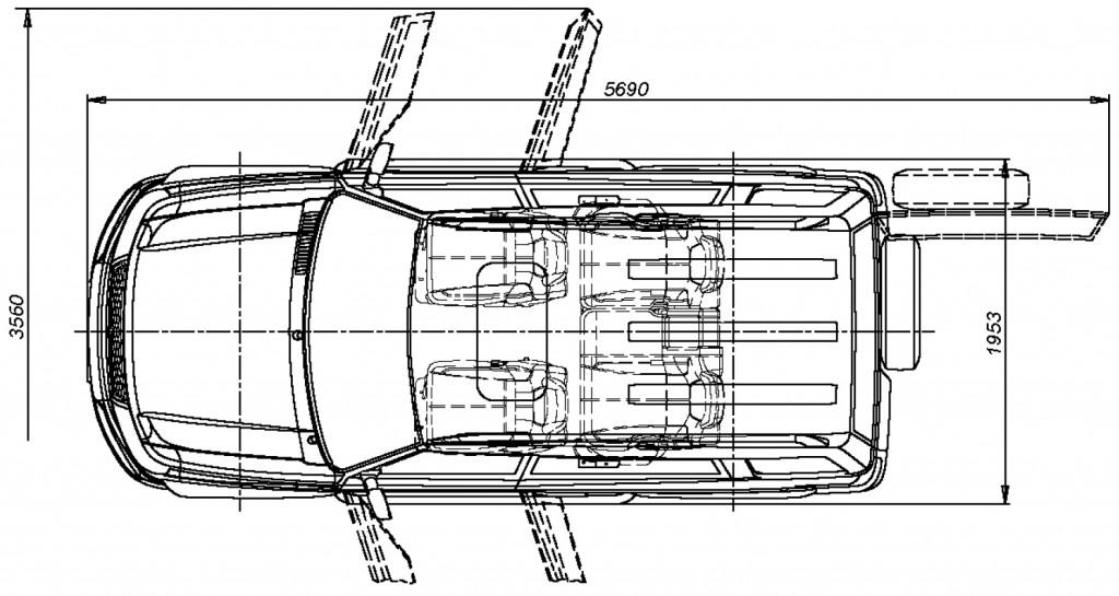 УАЗ Патриот - размеры · «